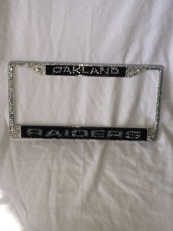 Oakland Raiders Bling License Plate Frame By Blingteamdesigns