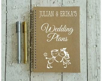 Personalised Gift, Wedding Plans Notebook, Custom Stationery, Engagement Gift, Personalised Wedding Planner Notebook, Organising Journal