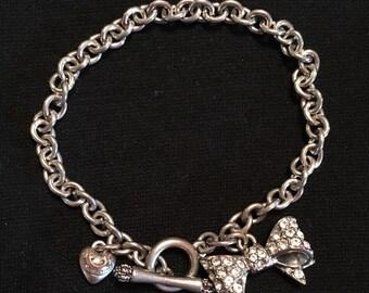 Juicy Couture Bow Charm Bracelet