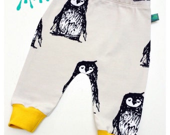 baby leggings, Baby clothes, penguin leggings, penguins, organic baby clothes, boy leggings, girl leggings, baby pants, baby gift, newborn