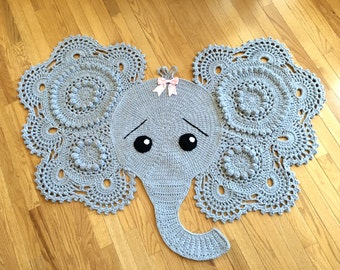 Adorable Gray Elephant rug