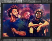 J. Cole Original Hip Hop Wall Art Glossy Photo Print Home Decor