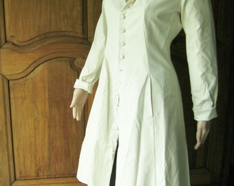 Coat woman ivory, reversible, ideal marriage, Dartagnan