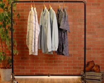 """Industrial Pipe Clothing Rack - 48"""""""