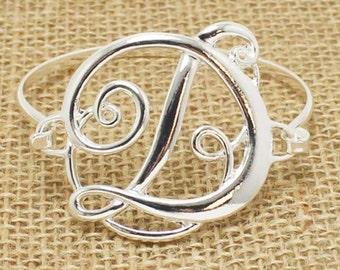 Initial Bracelets, Silver Initial Bracelet, Personalize Initial Bracelet, Initial H