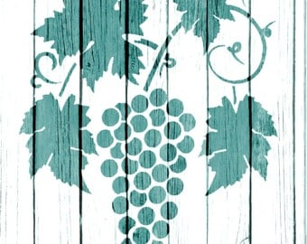 Re-usable Mylar Stencil GRAPEVINE,  Furniture, Fabric, French, Vintage, Shabby Chic