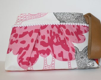Pleated Wristlet Pouch