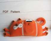 Cat pillow PDF sewing pattern- toys plushie Home decor- Epattern and instruction-pillow sewing tutorial Cat Instant Download toy stuffed