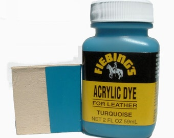 Fiebing's Acrylic Turquoise Leather Paint 2 oz. (59mL) 2604-09