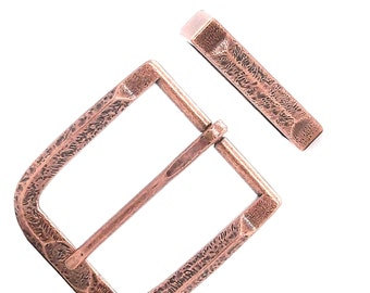 "Buckle and Keeper Set Old World Antique Copper 1-1/2"" 1648-10"