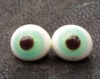 blue eyes, glass eyes, lampworkbeads, doll eyes, felt material, felt pieces,