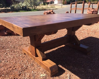 Farm Table w/ breadboard end