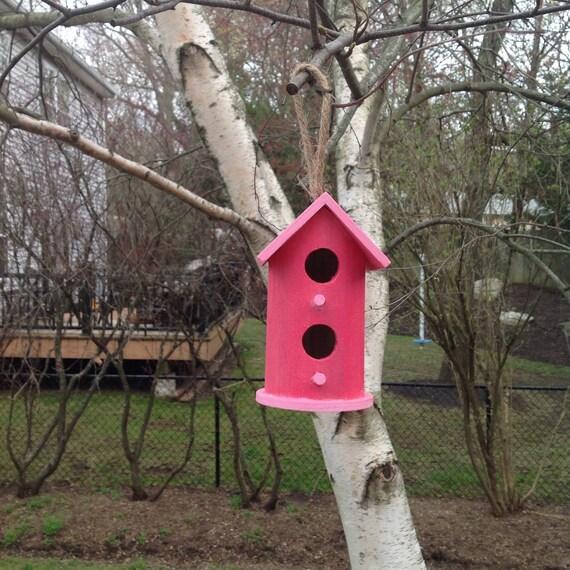 Hand Painted Indoor Outdoor Bird House Spring Decor Summer