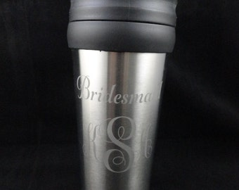 Insulated Stainless Steel Coffee Mug Custom Etched