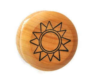 Wooden Sun Yo Yo - A Waldorf and Montessori Inspired Classic Toy - Stocking Stuffer - Easter Basket Toy - Party Favor