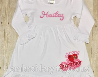 CHD Survivor Ruffle Dress, CHD Warrior Dress for Girls, Heart Warrior dress, CHD Survivor
