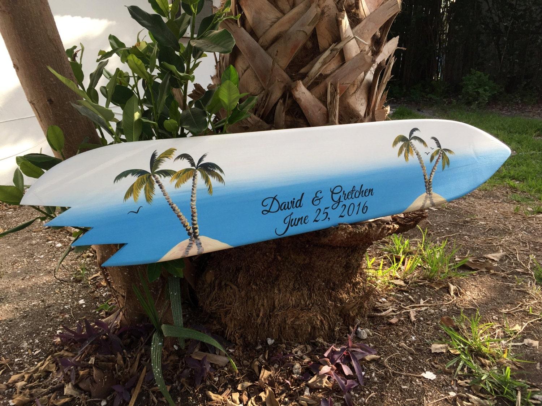 Surfboard Guest Book Alternative, Wood Guest book Wedding Sign ...