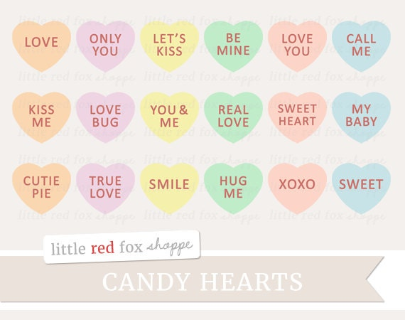 Candy Heart Clipart Valentines Day Clip Art Sweetheart