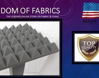 "2"" Pyramid Foam charcoal 48 x 72  1 sheet"