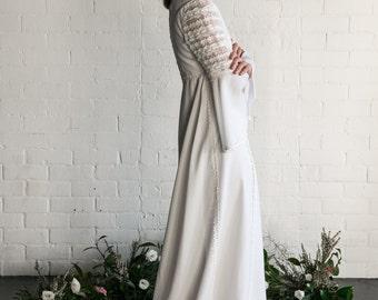 HEIDI - 1970's Vintage Wedding Dress