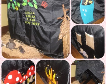 Table Tent. table cover, Role play tent, indoor tent, childrens tent, imaginative play, play house, play tent