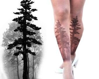 Tree Tights - thin and sheer -Tatto tights