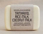 Solid shampoo bar, Tamarind mixed Rice milk & Coconut milk, Eucalyptus Essential Oil, Vegan, Make hair strong and help remove old skin cell.