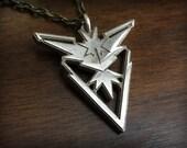 Pokemon Go Team Instinct 3D Printed Stainless Steel Pendant and Keychain