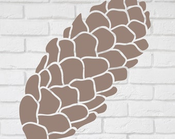 Pine Cone  stencil - 5 to 19 inches high.