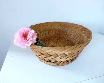 Vintage French LARGE Woven Basket
