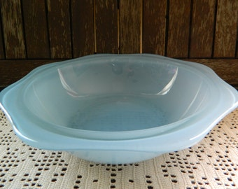 Vintage Frosted Blue Perspex Bowl