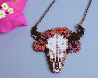 Buffalo Girl Hand Beaded Necklace