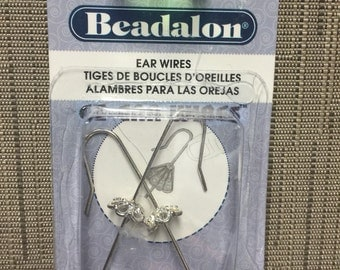 Silver Plated Ear Wires w/ Bead Cap