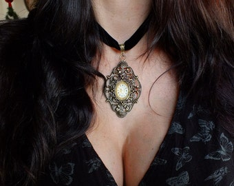Unique and original STEAMPUNK necklace