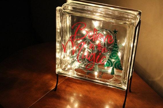 Believe In The Magic Vinyl Decal Glass Block Christmas - Nativity vinyl decal for glass block light