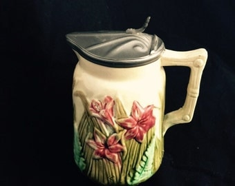 Antique Majolica Pitcher/Tankard From England