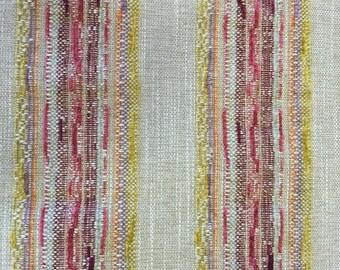 Modern BOHO Textured Stripe - Upholstery -Bohemian Upholstery Fabric