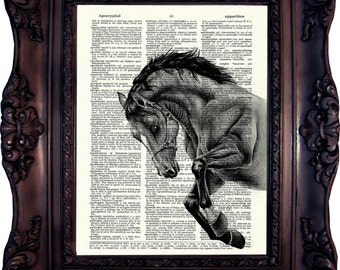 HORSE Print Horse Decor Horse Art Print Horse Lover Gift Horse Decor Christmas Gift Idea Animal Print Horse Wall Art Mom Gift Dad Gift C:675