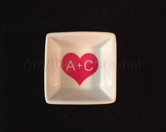 Personalized Gift, Monogram Gift, Personalized Ring Dish, Jewelry Dish, Monogram Dish, Jewelry, Trinket, Bridal Gift, Bachelorette
