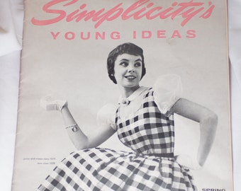 Vintage Simplicity's Young Ideas Spring 1955 Pattern Catalog