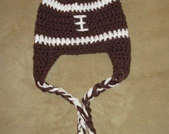 Crochet Football Beanie/ Crochet Football hat/Crochet football/ Football