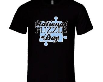 National Puzzle Day Fun Celebration T Shirt