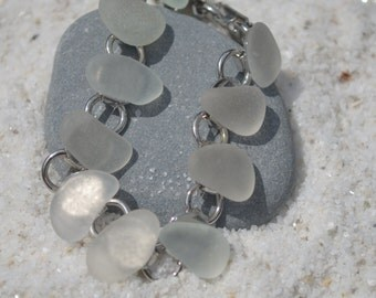 Genuine Frosted Sea Glass Bracelet