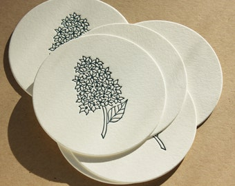 Letterpress Coasters (set of 8)