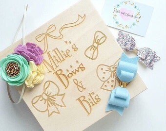 Personalised Hair Bow / hair accessories storage box