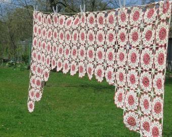 Curtains Ideas crochet curtain patterns valances : Curtain crochet – Etsy