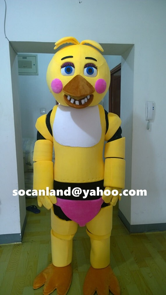 Chica cosplay fnaf chica mascot costume toy chica costumes clothing