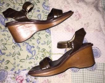90s Velcro Platform Sandals