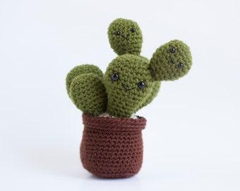 Crochet Amigurumi Prickly Pear Cactus, Made to Order