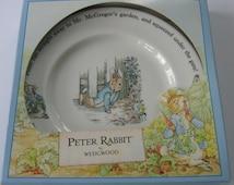 Peter Rabbit Children's Plate, Vintage Wedgwood Peter Rabbit Plate